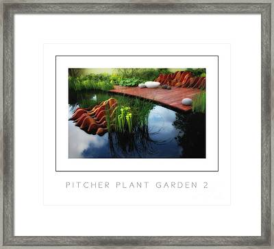 Pitcher Plant Garden 2 Poster Framed Print by Mike Nellums