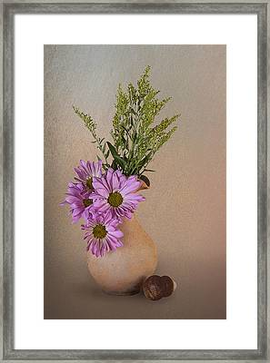 Pitcher With Daisies Framed Print