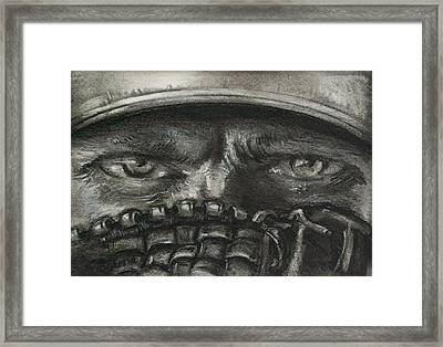 Pitchers Eyes Framed Print by Tom Forgione