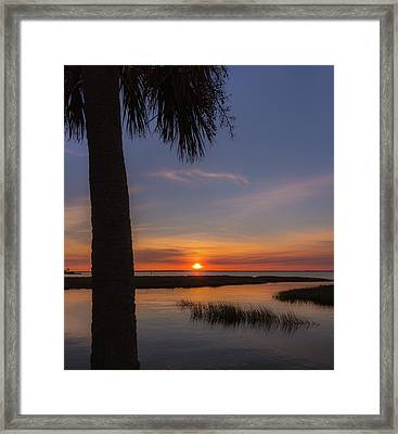 Pitt Street Bridge Palmetto Sunset Framed Print