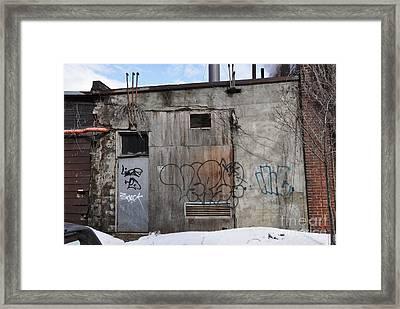 Pitt Street Wall Framed Print