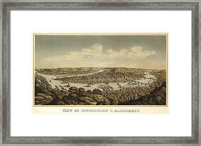 Pittsburgh 1874 Framed Print by Mountain Dreams