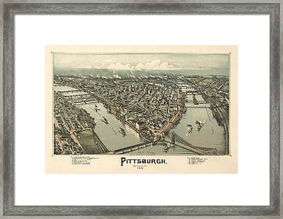 Pittsburgh 1902 Framed Print by Mountain Dreams