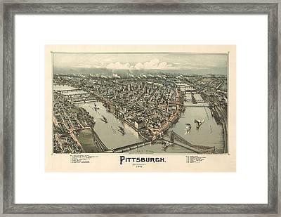 Pittsburgh 1902 Framed Print