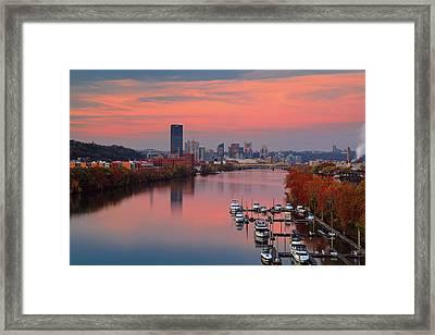 Pittsburgh 31st Street Bridge  Framed Print by Emmanuel Panagiotakis