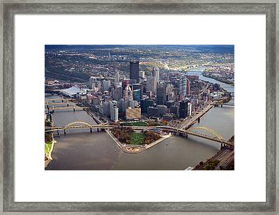 Pittsburgh 8 In Color  Framed Print by Emmanuel Panagiotakis