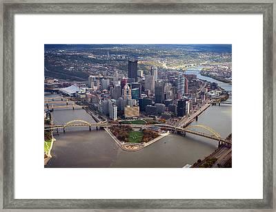 Pittsburgh 8 In Color  Framed Print by Emmanuel Panagiotakis