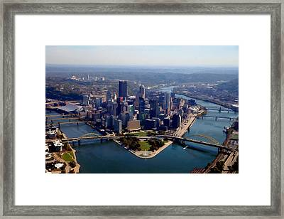 Pittsburgh Aerial Digital Painting Framed Print by Mattucci Photography
