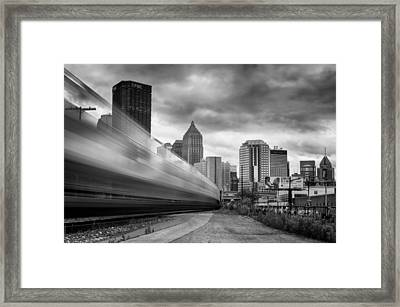Pittsburgh Architecture 100 Bw Framed Print by Emmanuel Panagiotakis