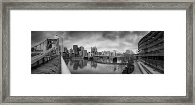 Pittsburgh Architecture  Bw 103 Framed Print