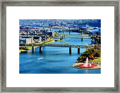 Pittsburgh At The Point Framed Print