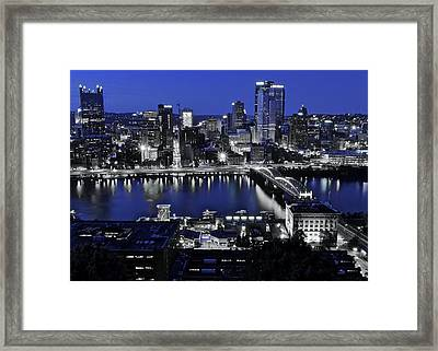 Pittsburgh Blue Framed Print by Frozen in Time Fine Art Photography