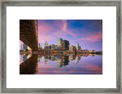 Pittsburgh  Blue Hour  Framed Print by Emmanuel Panagiotakis