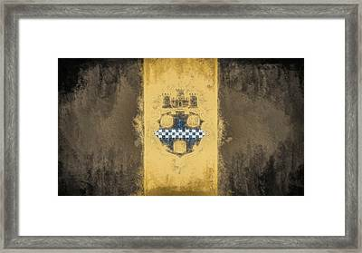 Pittsburgh City Flag Framed Print