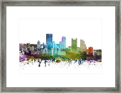 Pittsburgh Cityscape 01 Framed Print