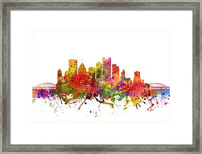 Pittsburgh Cityscape 08 Framed Print by Aged Pixel