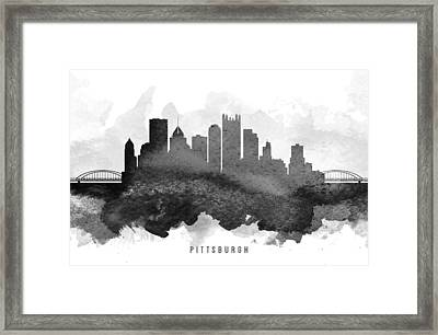 Pittsburgh Cityscape 11 Framed Print by Aged Pixel