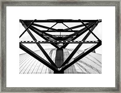 Pittsburgh Civic Arena Supports Framed Print by Jeff McCullough