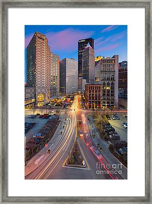 Pittsburgh Cultural District Framed Print