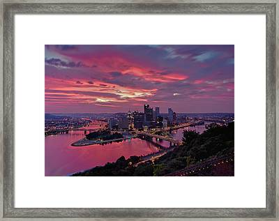 Pittsburgh Dawn Framed Print by Jennifer Grover