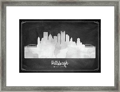 Pittsburgh Est 1758 - Uspapi03 Framed Print by Aged Pixel