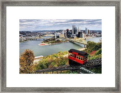 Pittsburgh From Incline Framed Print