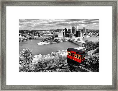 Pittsburgh From The Incline Framed Print by Michelle Joseph-Long