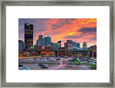 Pittsburgh From The Strip Framed Print by Emmanuel Panagiotakis