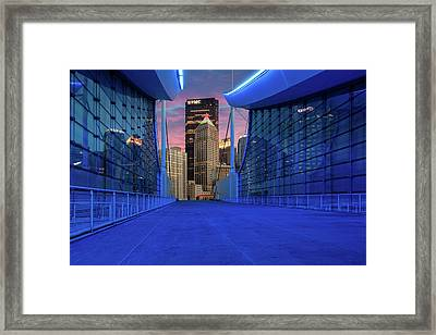 Pittsburgh In Blue  Framed Print
