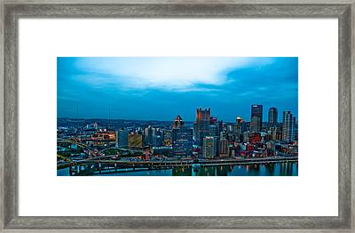 Pittsburgh In Hdr Framed Print by Kayla Yankovic