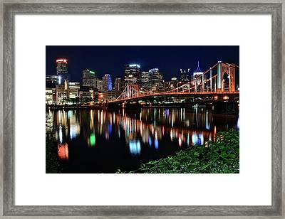 Pittsburgh Lights And Foliage 2017  Framed Print