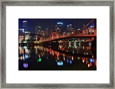 Pittsburgh Lights Framed Print by Frozen in Time Fine Art Photography