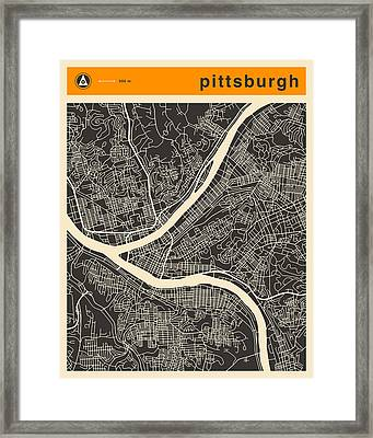 Pittsburgh Map Framed Print