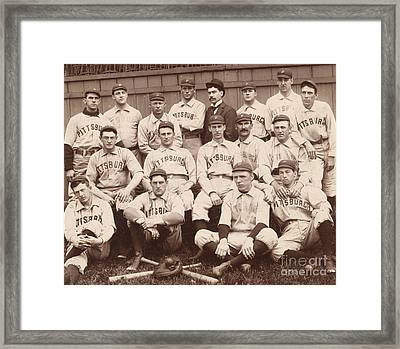 Pittsburgh National League Baseball Team Framed Print by American School