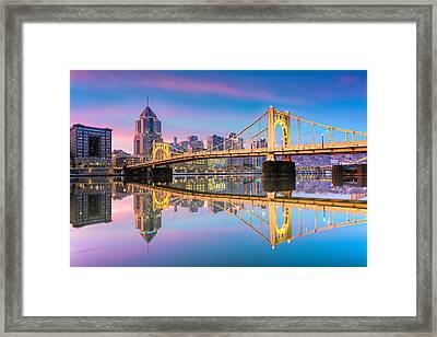 Pittsburgh North Shore Reflections  1 Framed Print by Emmanuel Panagiotakis