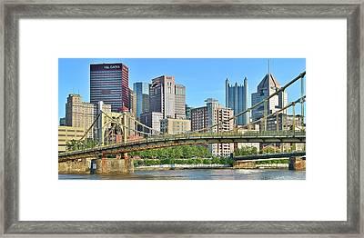 Pittsburgh Over The Bridge Framed Print