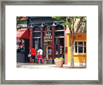 Pittsburgh Pa - Strolling Along Liberty Avenue Framed Print by Susan Savad