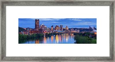 Pittsburgh Pano 13 Framed Print by Emmanuel Panagiotakis