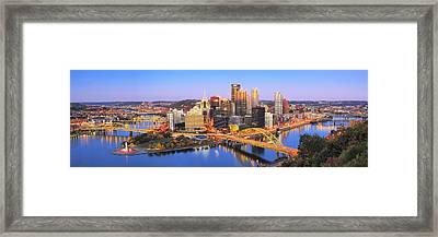 Pittsburgh Pano 22 Framed Print