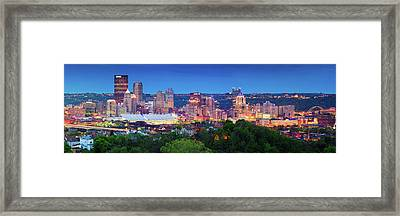 Pittsburgh Pano 3 Framed Print by Emmanuel Panagiotakis