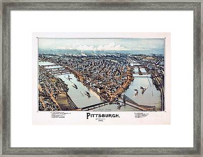Pittsburgh Pennsylvania 1902 Framed Print