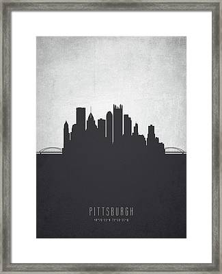 Pittsburgh Pennsylvania Cityscape 19 Framed Print by Aged Pixel