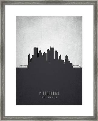 Pittsburgh Pennsylvania Cityscape 19 Framed Print