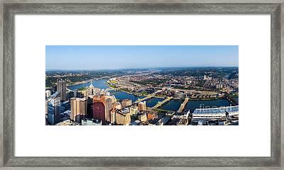 Pittsburgh Pennsylvania Cityscape Panoramic Framed Print