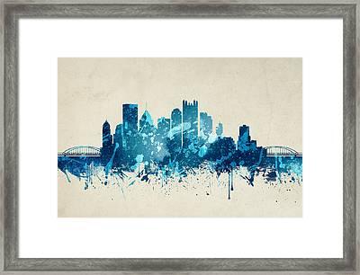 Pittsburgh Pennsylvania Skyline 20 Framed Print by Aged Pixel