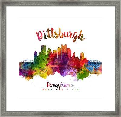 Pittsburgh Pennsylvania Skyline 23 Framed Print