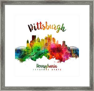 Pittsburgh Pennsylvania Skyline 24 Framed Print by Aged Pixel