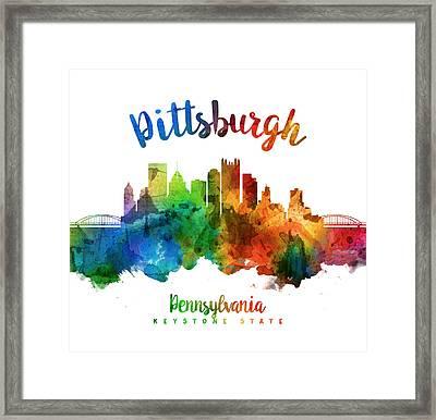 Pittsburgh Pennsylvania Skyline 25 Framed Print by Aged Pixel