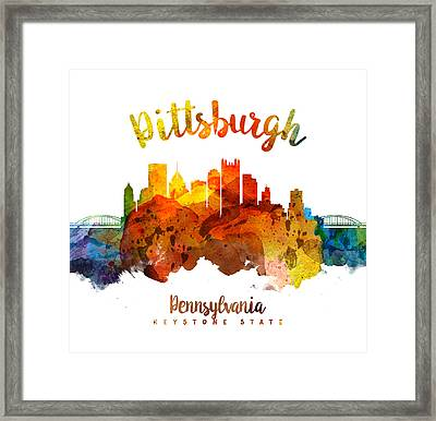 Pittsburgh Pennsylvania Skyline 26 Framed Print by Aged Pixel