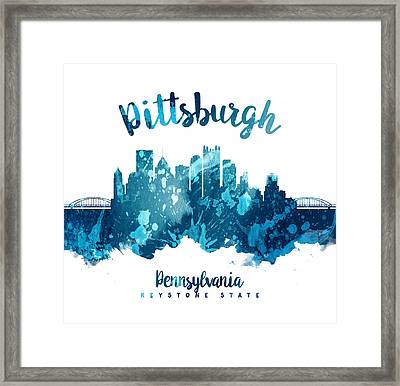 Pittsburgh Pennsylvania Skyline 27 Framed Print